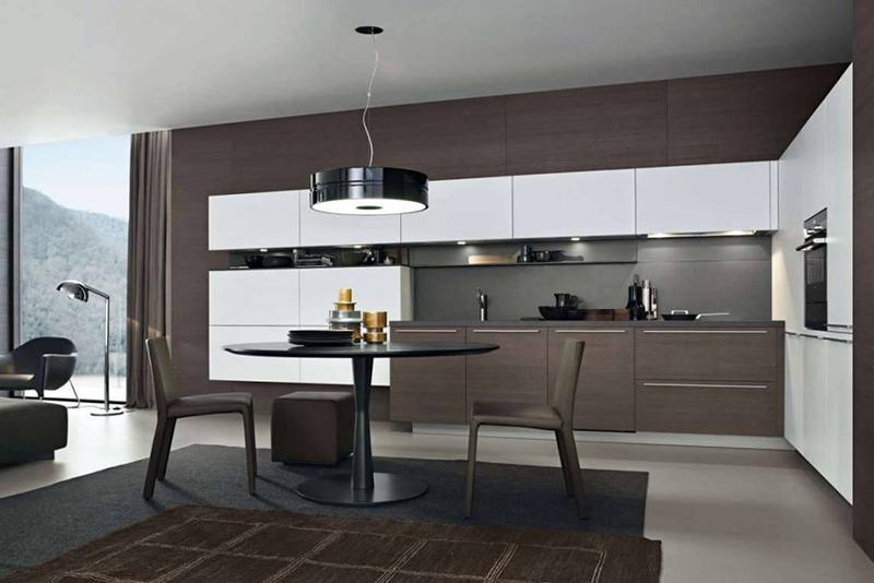 tủ bếp gỗ hiện đại đẹp