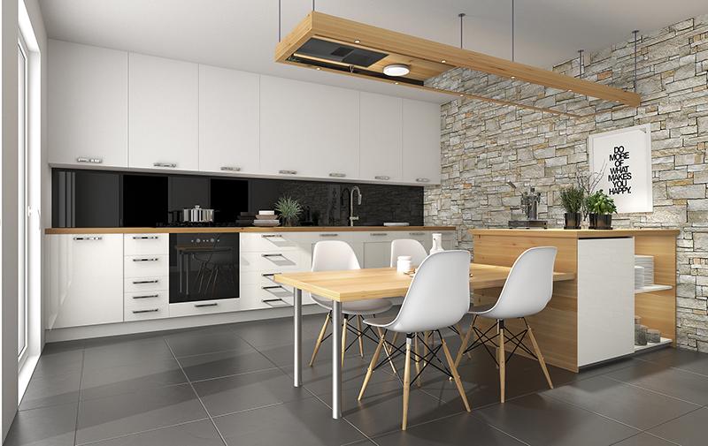 mẫu nhà tủ bếp gỗ đẹp đơn giản