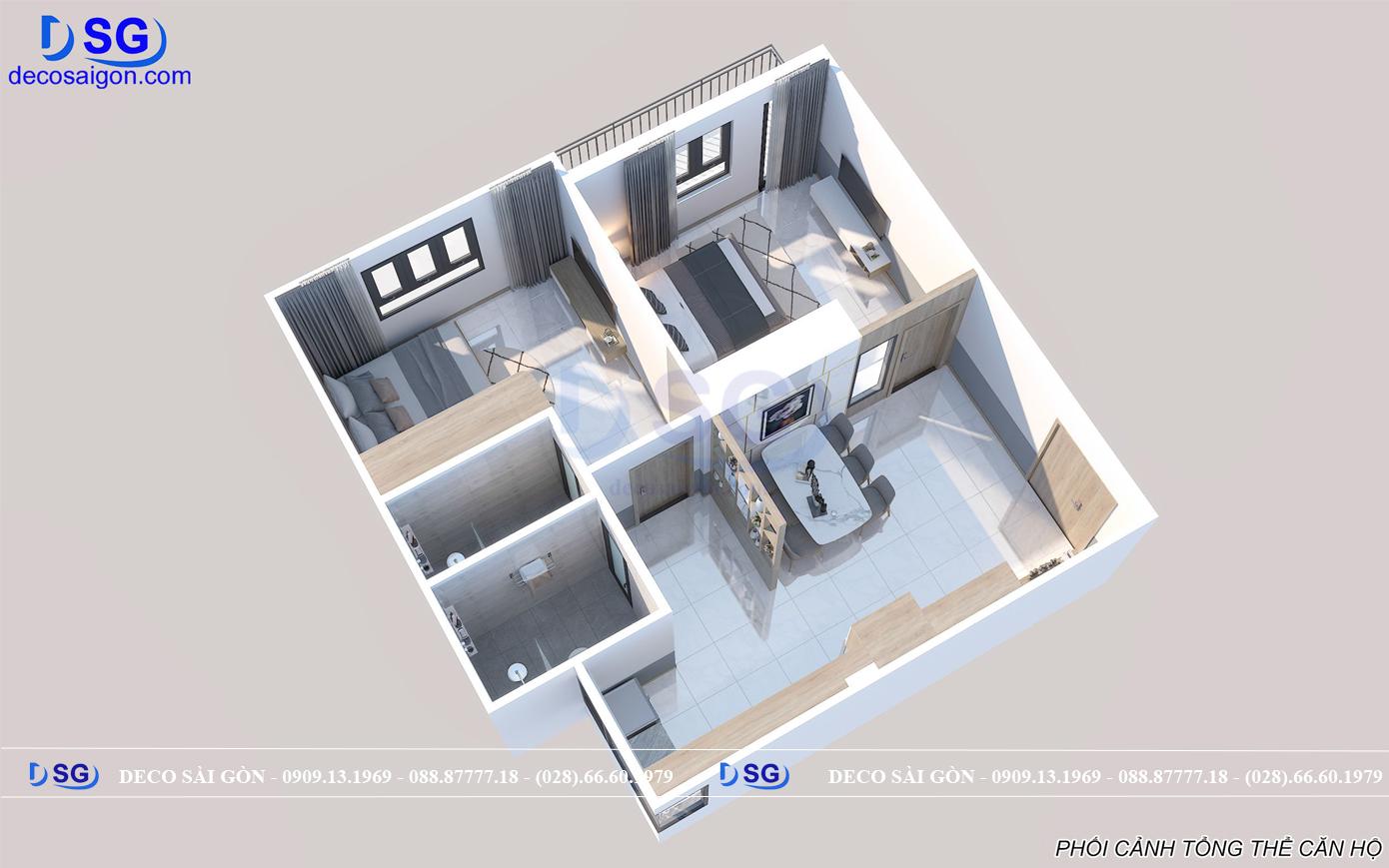 Bản vẽ mặt bằng thiết kế nội thất nhà anh Vân quận 10