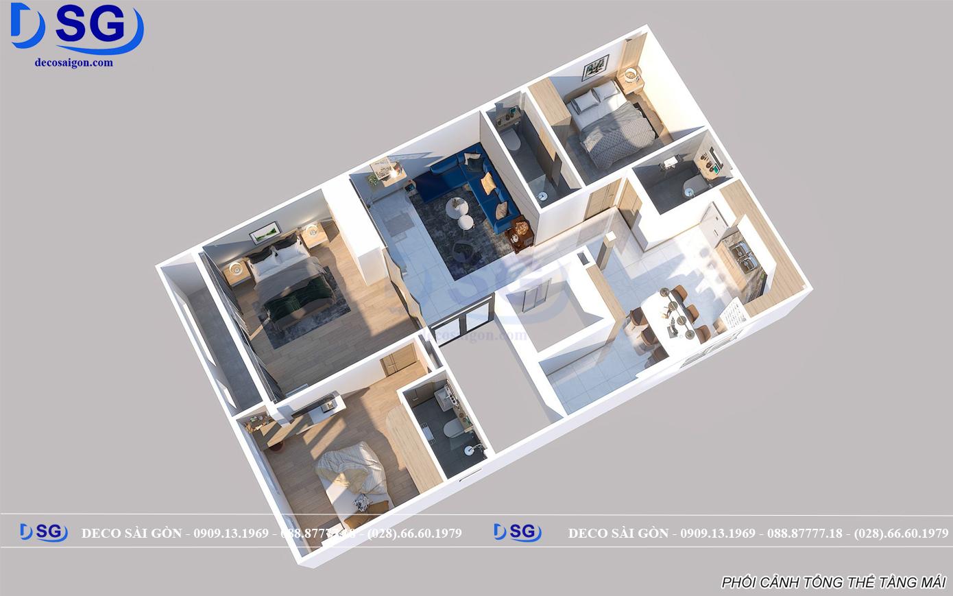 Bản vẽ mặt bằng nội thất chung cư