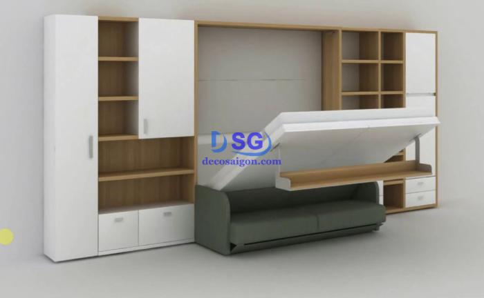 Giường tủ thông minh phòng ngủ