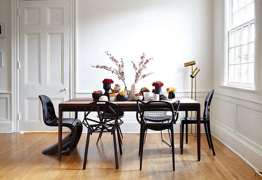 Phòng ăn màu đen đôc đáo