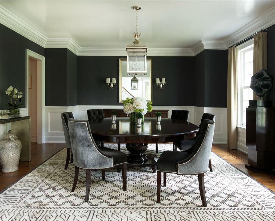 Phòng ăn màu đen độc đáo