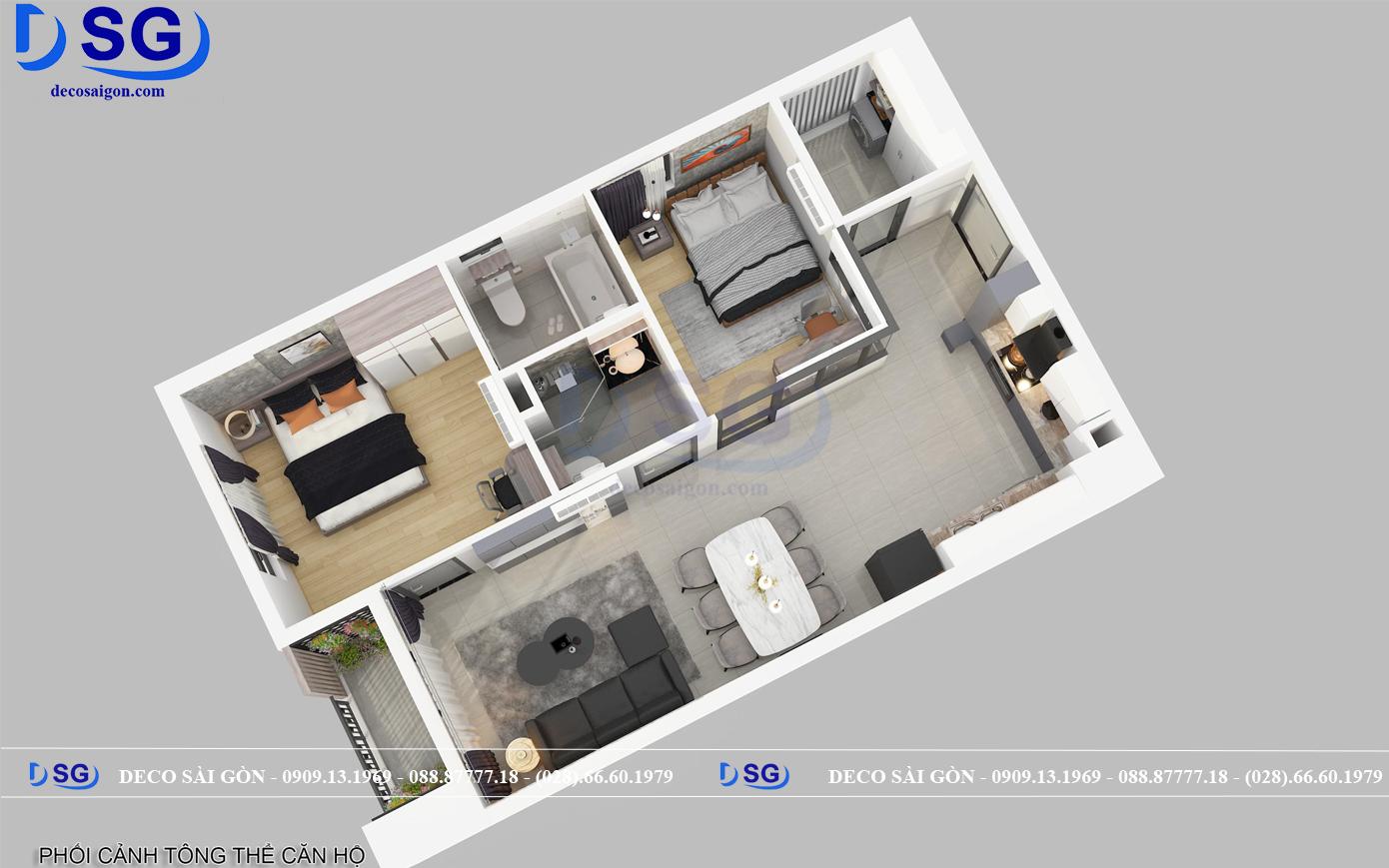 bản vẽ mặt bằng nội thất chung cư nhà chị lan