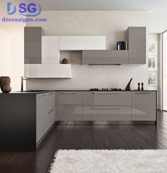 Phong cách hiện đại trong thiết kế tủ bếp