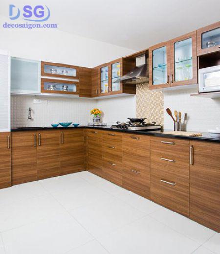 bếp gỗ công nghiệp laminate giá rẻ