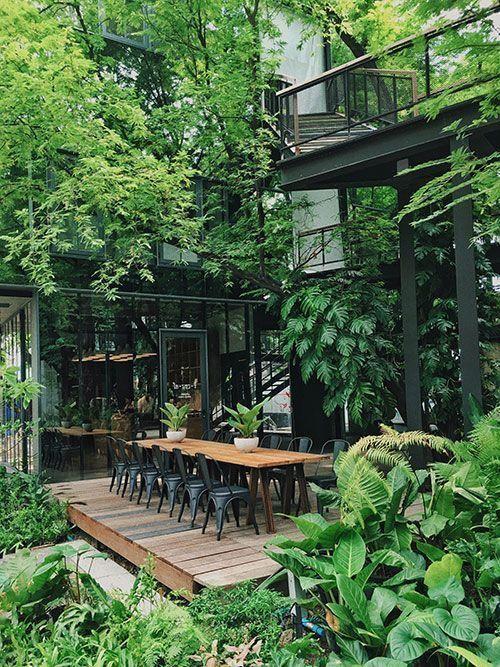 view đẹp nội thất quán cafe giá rẻ